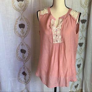 PerSeption Concept Lace Tank Blouse women's Sz XL